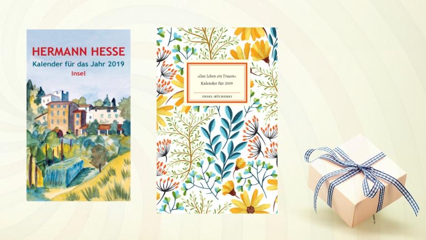 Kalenderbücher vom Insel/Suhrkamp Verlag,