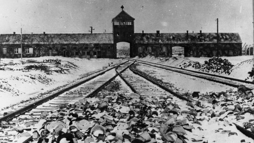 Torgebäude des KZ Auschwitz-Birkenau,
