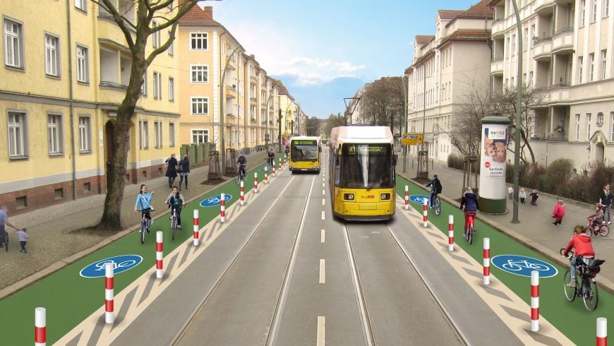 Maximalplan: Radfahrstreifen Siegfriedstraße