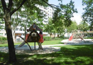 Spinnennetz-Spielplatz