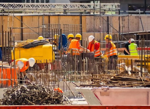 Bauarbeiter im Hochbau