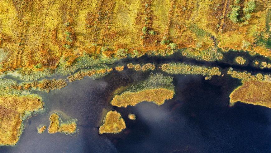 Bagno Kusowo und Slowinski-Nationalpark (Polen) aus der Vogelperspektive